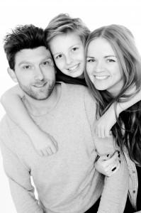 Portræt af lille familie