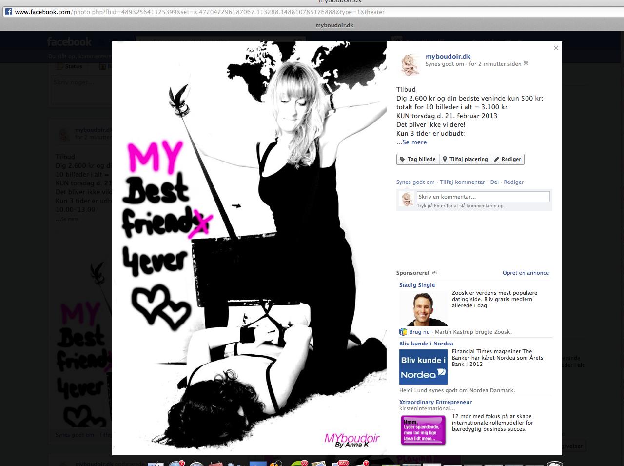 Har vi ledige tider, så hold øje med myboudoir på Facebook