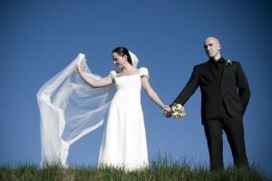 Bryllupsbilleder af Anna Kjærulff hos Myboudoir