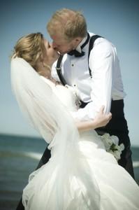 Bryllupsbilleder ved havet